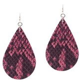 Leather Fish Hook Earrings